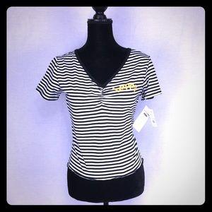 Tops - ☀️Happy stripe tee☀️